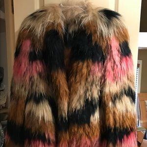 NEW Neiman Marcus Yves Salomon METEO Fur Jacket
